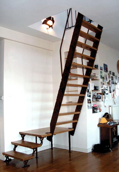 escalier en bois et m tal forg vendu par la ferronnerie d 39 art. Black Bedroom Furniture Sets. Home Design Ideas