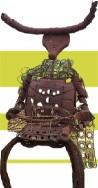 Sculpture en fer représentant un conquistador