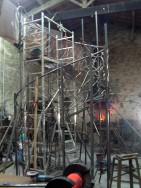 Montage d'une rampe en fer forgé