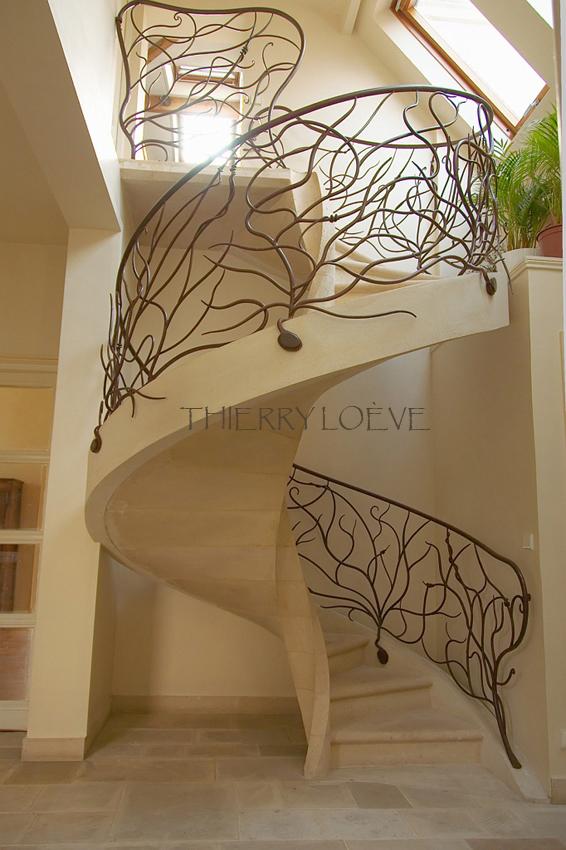 rampe v g tale h lico dale thierry lo ve maitre artisan ferronnier d 39 art. Black Bedroom Furniture Sets. Home Design Ideas
