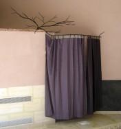 tringle à rideaux végétale