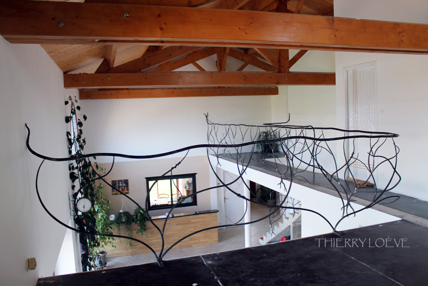 garde corps en fer forg de style v g tal pour une mezzanine thierry lo ve maitre artisan. Black Bedroom Furniture Sets. Home Design Ideas