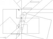 Dtail d'un dessin technique préparatoire