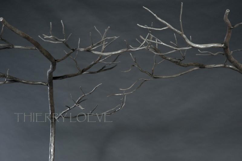 Détail du ciel de lit en hiver