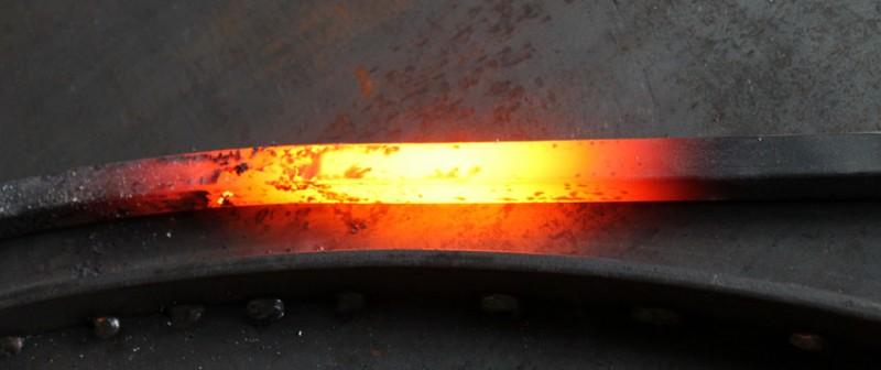 Couleurs du fer chauffé