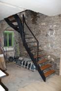 Escalier du haut en cours de pose