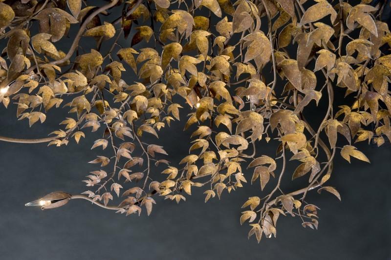 """Détail des feuilles du lustre """"Buisson"""""""